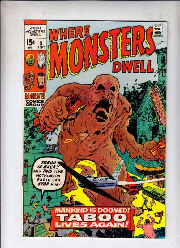 Where Monsters Dwell #5 (Sep-70) VF High-Grade Sporr