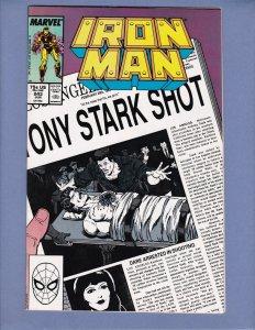 Iron Man #243 FN/VF Tony Stark Shot Marvel 1989
