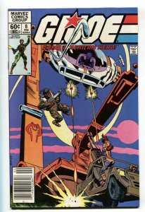 G.I. JOE #8 1983- Marvel Comics comic book-Newsstand