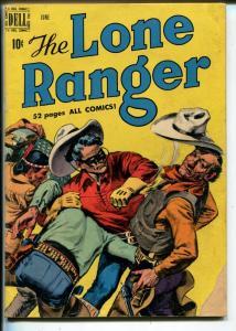 Lone Ranger #24 1950-Dell-fight cover-Tonto-G+