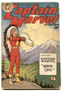 Captain Marvel Adventures #83 1948- Indian Chief- missing panels