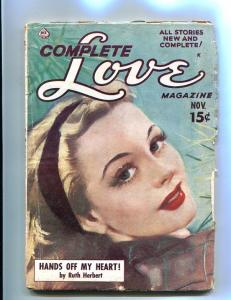 COMPLETE LOVE PULP-NOV-1950-GOOD GIRL ART-PIN UP COVER! VG