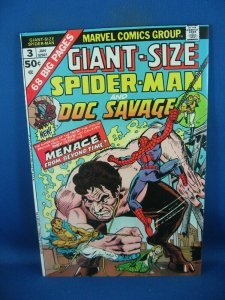 GIANT SIZE SPIDERMAN  DOC SAVAGE 3 VF NM 1975