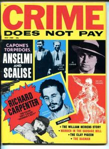 Crime Does Not Pay 5/1969-Al Capone-cop killer-Baby face Nelson-Legs Diamond-VF
