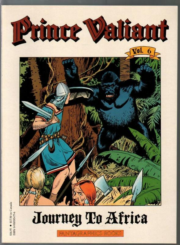 Prince Valiant #6 1990-Fantagraphics-color reprint-Hal Foster-Africa-VF