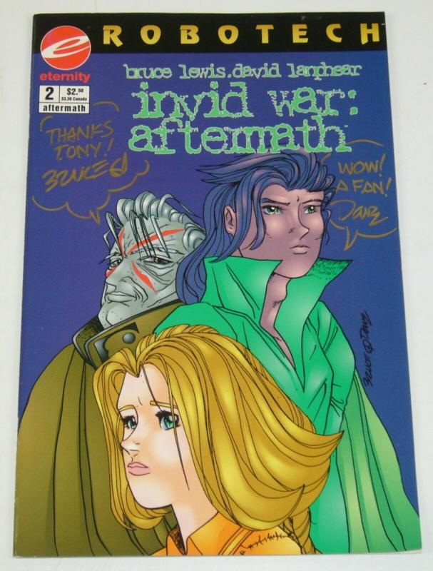 Robotech: Invid War Aftermath #2 VF/NM; signed by Bruce Lewis + David Lanphear