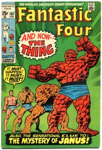 FANTASTIC FOUR #107, FN, 1st Janus, Buscema, 1961, more FF in store, QXT