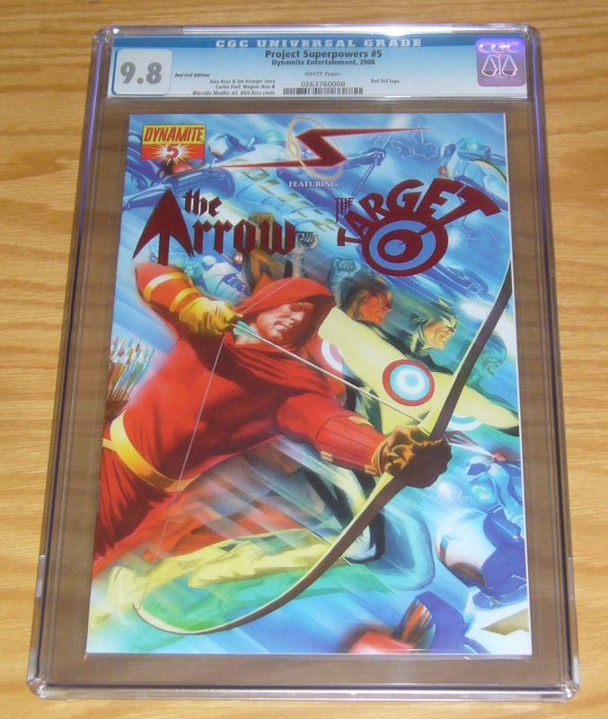 Project Superpowers #5 CGC 9.8 red foil edition variant w/COA (limited to 499)