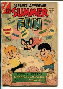 SUMMER FUN #54 1966 - ATOMIC MOUSE-LI'L GENIUS-JOHNNY BOY-PAPER DOLLS-good minus