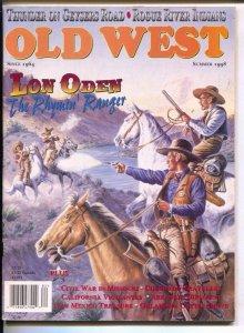 Old West-Summer 1998-Gary Zaboly gunfight cover-violent western stories-pulp ...