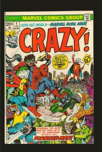 Marvel Comics Crazy Vol 1 No 1 February 1973