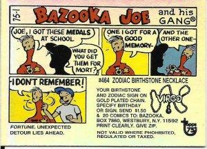 2013 Topps 75th Anniversary Foil #60 Bazooka Joe > Gum > Comic > 1975
