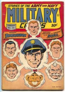 Military Comics #26 1944- BLACKHAWK- Topless mermaid FN-