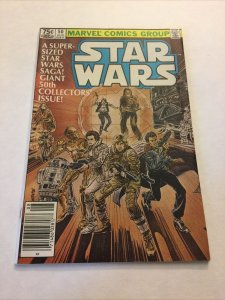Star Wars 50 Vf Very Fine 8.0 Newsstand Edition Marvel Comics