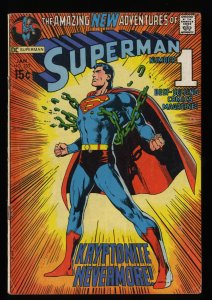Superman #233 VG 4.0 Classic Neal Adams Cover!