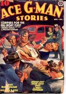 ACE G-MAN STORIES-11/1939-PISTOL WHIP VG
