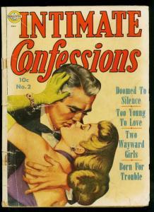 Intimate Confessions #2 1951- Avon Romance Comic- Rare- G