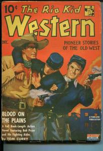 Rio Kid Western 12/1942-Thrilling-Bob Pryor-continuing hero pulp-VG