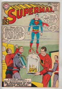 Superman #158 (Jan-63) FN+ Mid-High-Grade Superman, Jimmy Olsen,Lois Lane, La...