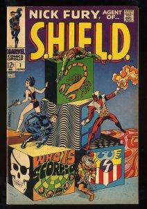 Nick Fury, Agent of SHIELD #1 FN- 5.5 Marvel Comics