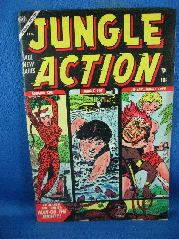 JUNGLE ACTION 3 F ATLAS F MANEELY LEOPARD GIRL 1954