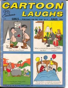 Cartoon Laughs 3/1967-Marvel-Jokes-cartoons-Trogdon-cheesecake-deCarlo-VG