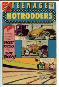 TEENAGE HOTRODDERS #20 1966-CHARLTON-MOTORCYCLE GANG-SLOT CAR RACING-fn