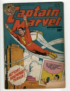 Captain Marvel Adventures # 59 VG- Fawcett Golden Age Comic Book Shazam Beck NE4