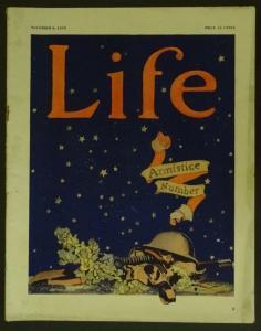 LIFE-11/08/1923-WWI ARMISTICE-PERCY CROSBY-SKIPPY-SLAPPY-RARE-vg