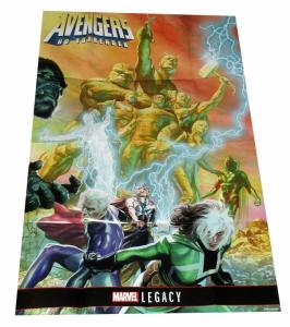 Avengers No Surrender Rogue Beast Thor Folded Promo Poster (36 x 24) - New!