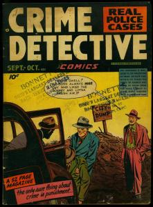 Crime Detective Vol 1 #4 1948- City Dump cover- Golden Age VG