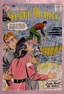 SECRET HEARTS #40 1957- PERSONAL LOVE STORIES-SPEEDBOAT VG