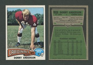 1975 Topps Football /  Donny Anderson #292 /  NM-MT