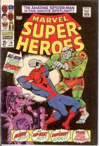 MARVEL SUPER HEROES 14 VG+ SPIDERMAN  May 1968 COMICS BOOK