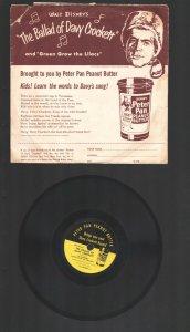 Ballad Of Davy Crockett Record 1954-Walt Disney TV series-original mailing en...