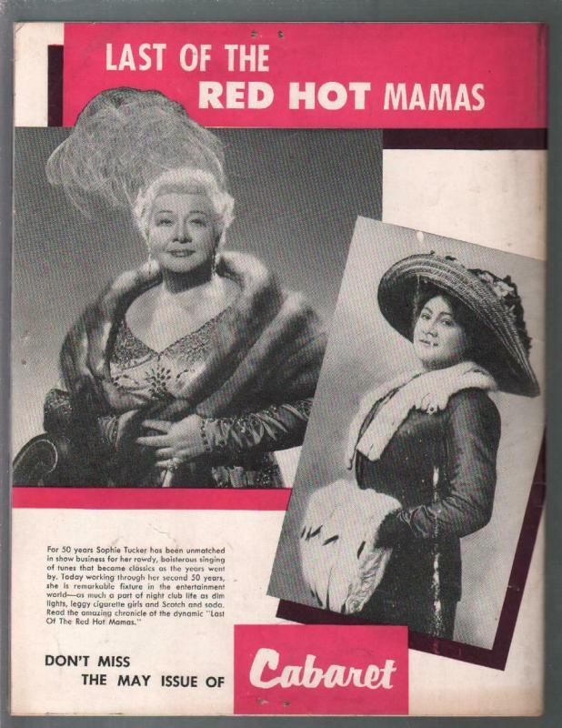 Cabaret #12 4/1956-Meg Myles-juke boxes-Evelyn West-Tempest Storm-G