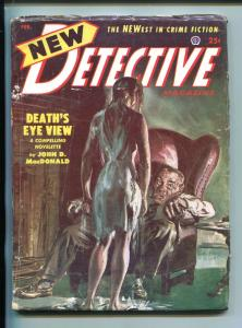 NEW DETECTIVE-04/1953-POPULAR-UNIQUE COVER.MACDONALD-HARDBOILED-PULP-FICTION-vg