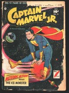 Captain Marvel Jr. #91 1950- Fawcett-Sci-fi cover-Horror story Captain Marvel...
