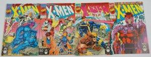 X-Men vol. 2 #1 VF/NM complete set of 4 connecting variants - jim lee marvel lot