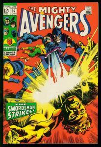 AVENGERS #65 1969- last 12 cent issue -MARVEL- SWORDSMAN- VF
