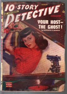 10-Story Detective 8/1945-Albert Drake bondage torture cover-crime pulp-VG