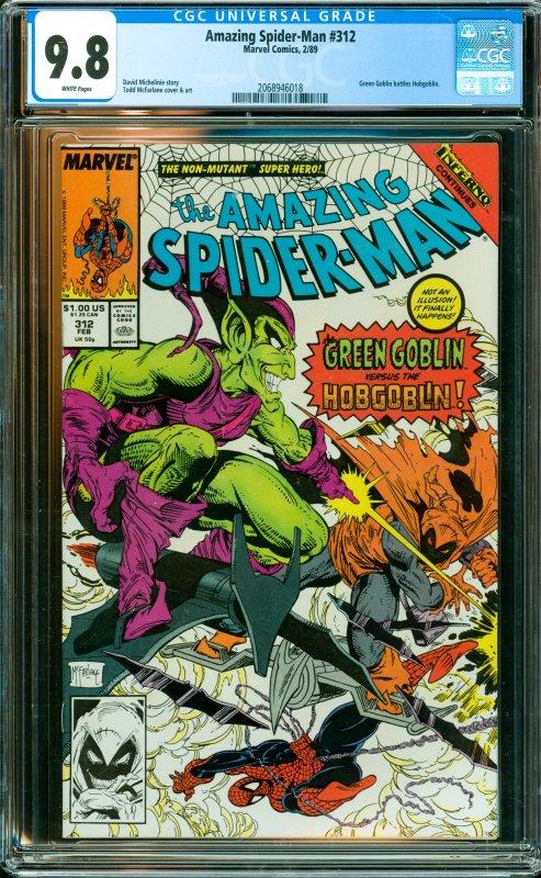 Amazing Spider-Man #312 CGC Graded 9.8 Green Goblin battles Hobgoblin.