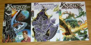 Knights on Broadway #1-3 VF/NM complete series - geof isherwood - broadway comic