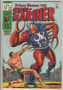 Sub-Mariner #12 (Apr-69) VF+ High-Grade Sub-Mariner (Prince Namor)