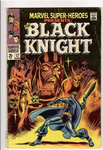 MARVEL SUPER HEROES 17 VG/F 5.0 ORIGIN BLACK KNIGHT!