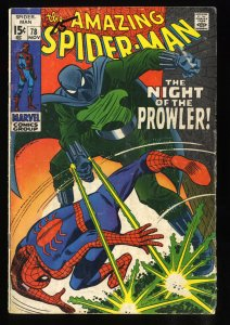 Amazing Spider-Man #78 GD+ 2.5 1st Prowler!