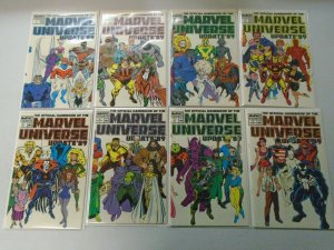 Official Handbook of the Marvel Universe Set: #1-8 8.0 VF (1989)