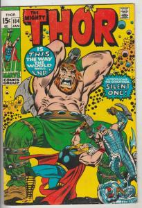 Thor, the Mighty #184 (Jan-71) FN Mid-Grade Thor