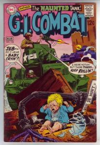 G.I. Combat #134 (Mar-69) VG/FN- Affordable-Grade The Haunted Tank