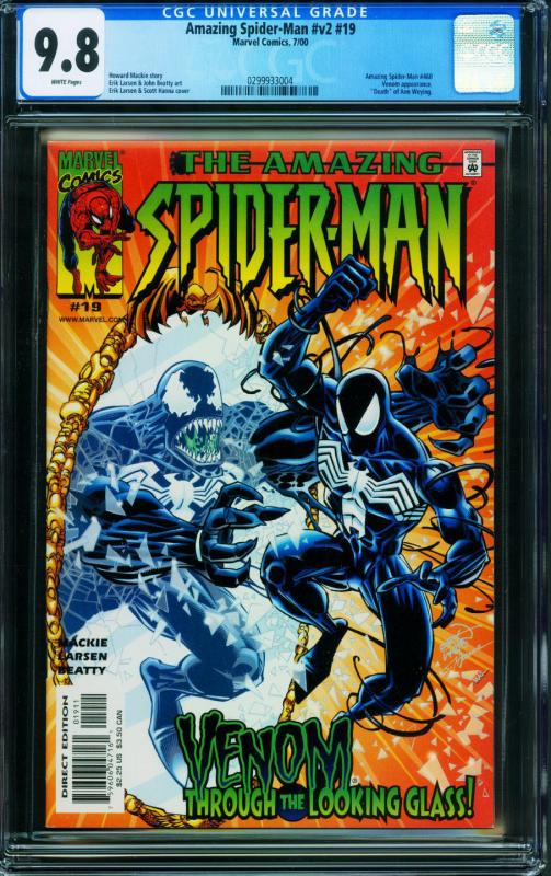 AMAZING SPIDER-MAN Vol.2 #19 CGC 9.8 2000.-VENOM COVER - 0299933004